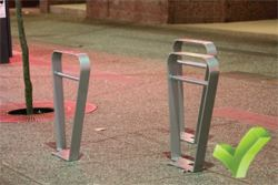Staple bike rack