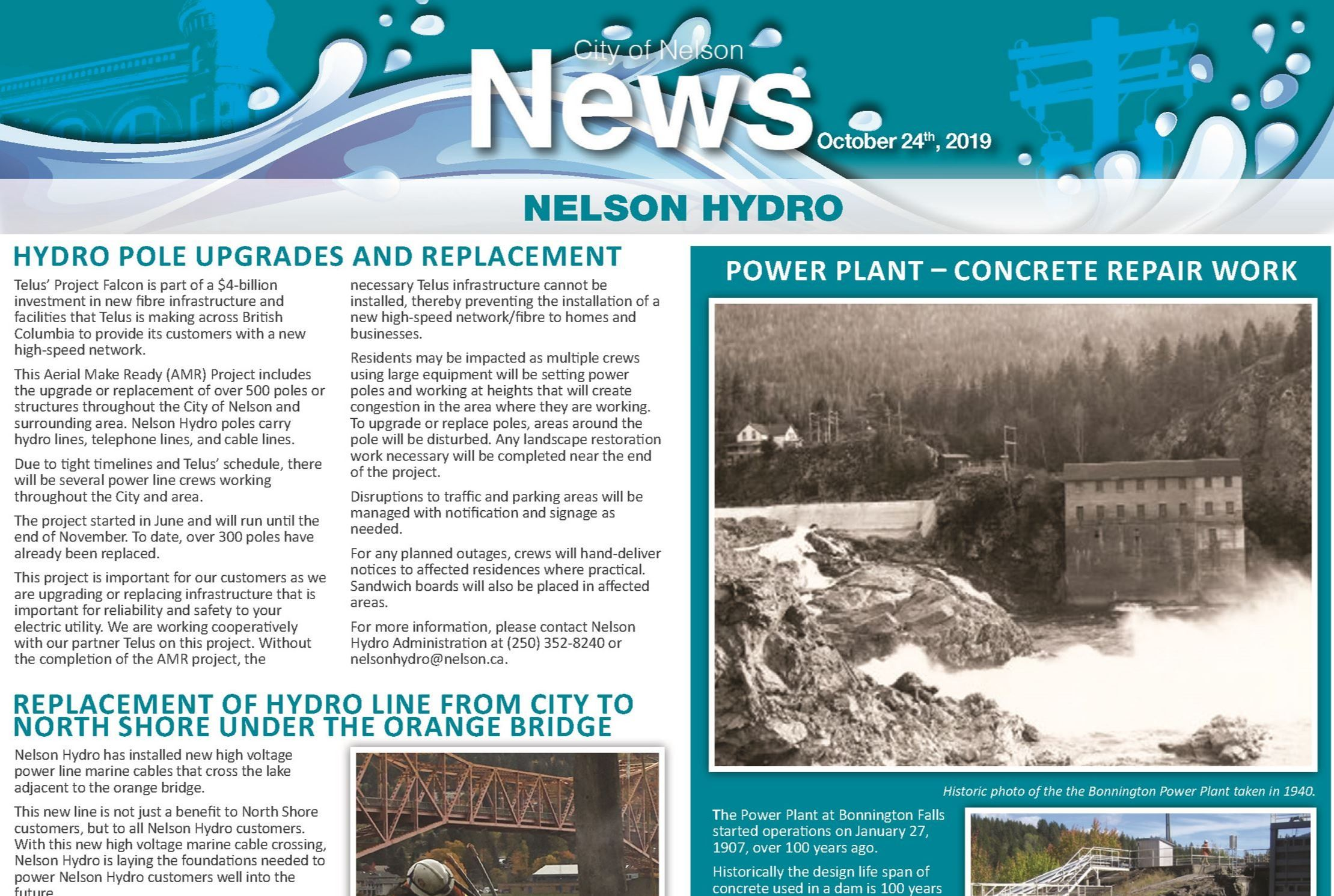 October Hydro Newsletter 2019