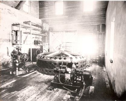 Historic photo of original plant interior