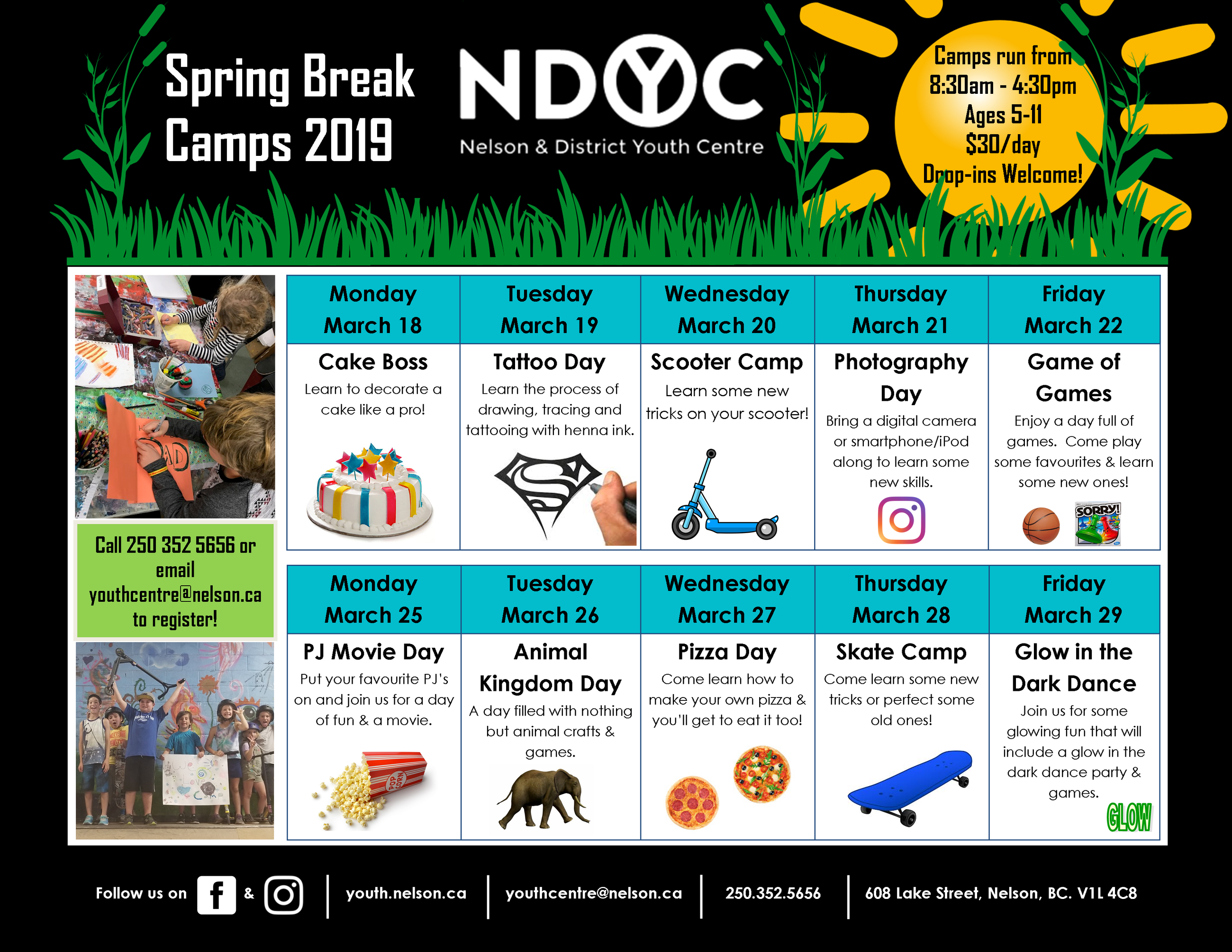 Spring Break Schedule 2019 Print Final